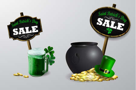 Sale poster for St. Patricks Day Vector.