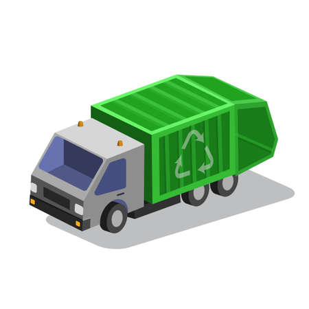 Garbage Collector Truck vector illustration