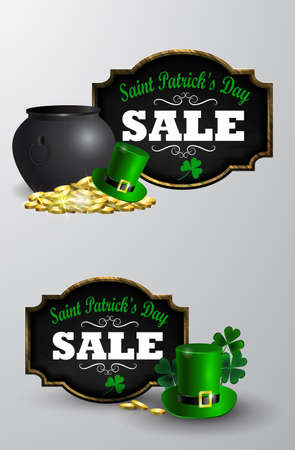 Sale poster for St. Patrick s Day.