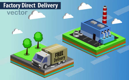 Factory direct delivery vector illustration