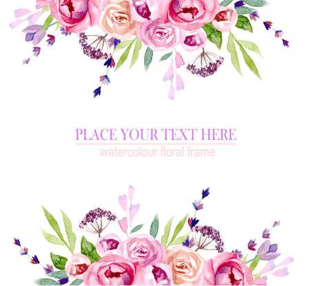 ghirlanda di fiori in acquerello