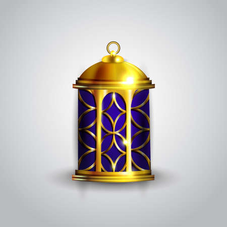 Gold vintage luminous lantern