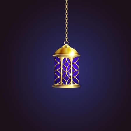 Gold vintage luminous lantern