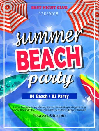 Summer Beach Party Template Ilustracja