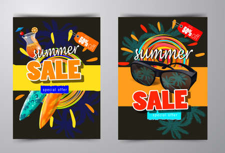 summer sale template banner Ilustrace