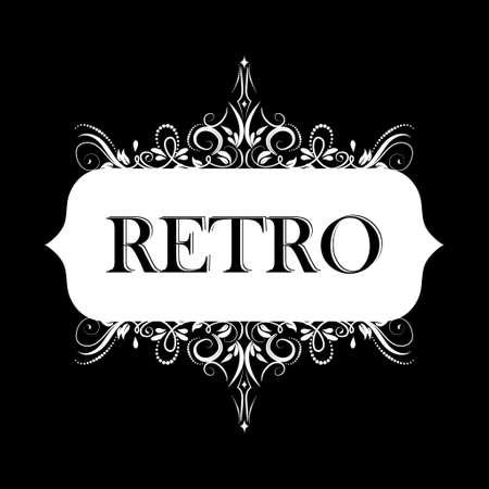 Vector illustration of old style retro vintage label Stok Fotoğraf - 115034898
