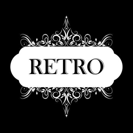 Vector illustration of old style retro vintage label Stok Fotoğraf - 115034904