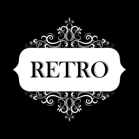 Vector illustration of old style retro vintage label Stok Fotoğraf - 115034905