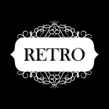 Vector illustration of old style retro vintage label Çizim