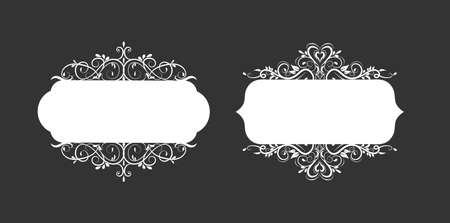 Vector illustration of old style label