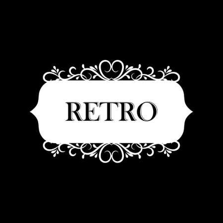 Vector illustration of old style retro vintage label Ilustração
