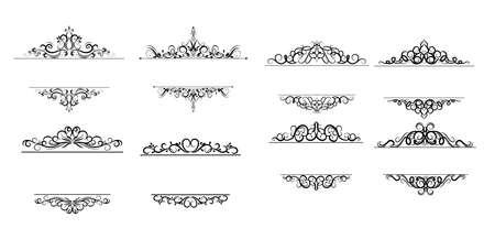 Uitstekend vectorwervelingsframe dat op wit wordt geplaatst