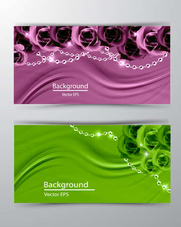 Abstract vector background luxury cloth or liquid wave or wavy folds of grunge silk texture satin velvet material, luxurious with roses background or elegant collection 矢量图像
