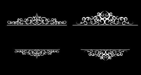 Vintage vector swirl frame set isolated on a background 矢量图像