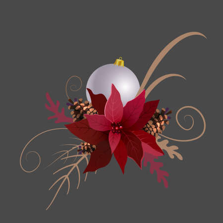 Christmas decoration isolated on white background vector