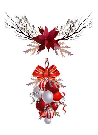 Christmas decoration set Stockfoto
