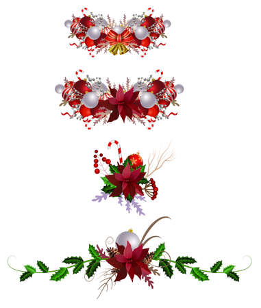 Christmas decoration set Illustration