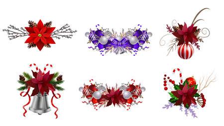 Christmas decoration set Фото со стока