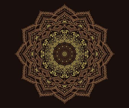 Modern Decorative floral color mandala vector round Shapes. Vector illustration Иллюстрация