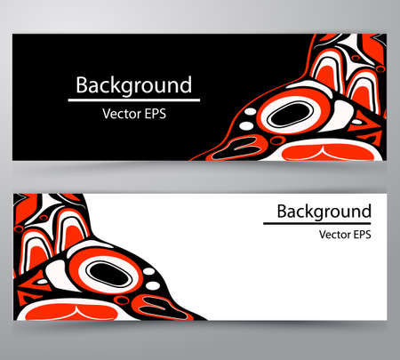 native salmon Vector tribal north american header