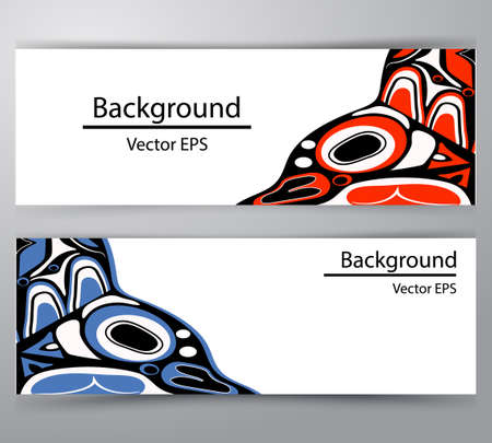 native salmon Vector tribal north american header