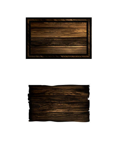 Vector realistic illustration of wooden signboard isolated on white Illustration