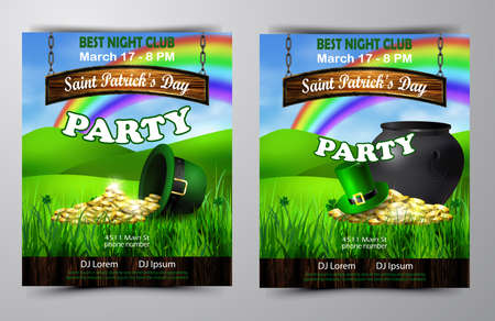 Vector St. Patrick s Day poster design template Imagens - 117253814