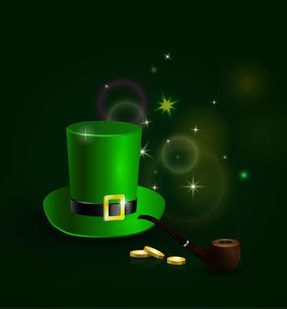 St. Patricks Day poster green Vector illustration