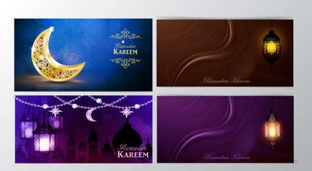 Ramadan Kareem, greeting background vector Ilustrace