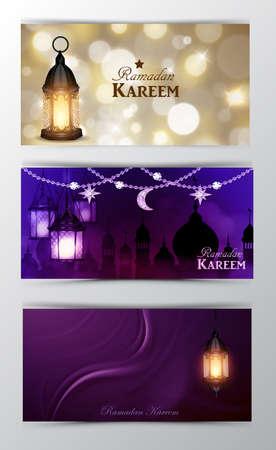 Ramadan Kareem, greeting background vector  イラスト・ベクター素材