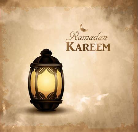 Gold vintage luminous lantern background