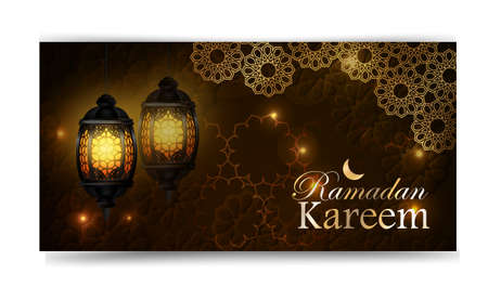 Ramadan Kareem, greeting background, eps 10 Vectores
