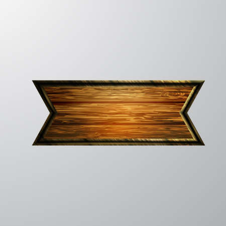Vector realistic illustration of wooden signboard Vectores