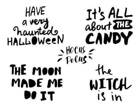 Felice Halloween. Calligrafia creativa disegnata a mano