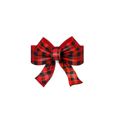 Red   bow Christmas vector