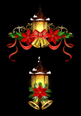 Christmas decoration with street light cpllection