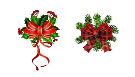 Christmas decorations with fir tree and decorations Stockfoto - 133489083