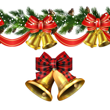 Vector Christmas Border decoration collection