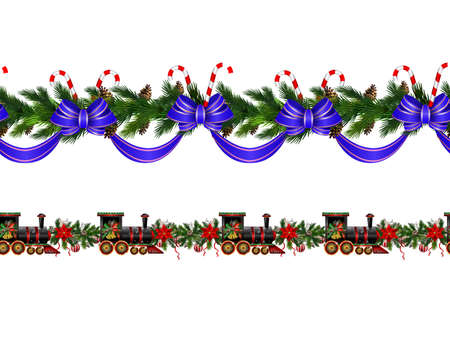 Vector Christmas Border collection isolates