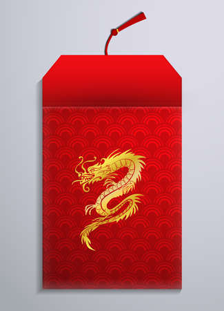 Red envelope packet open for New Year