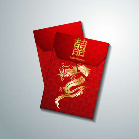 Red envelope packet set for new year