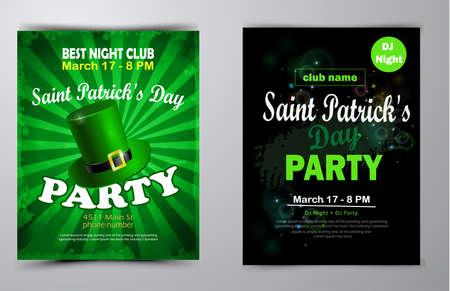 St. Patrick s Day poster set Vector illustration Stock Illustratie