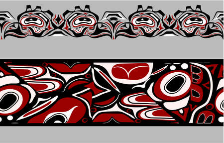 abstract background native north american set Vector Illustration
