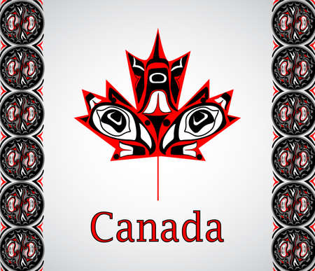 Canada flag the national day of Canada Ilustracja
