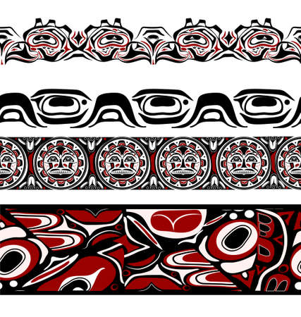 abstract background native north american set