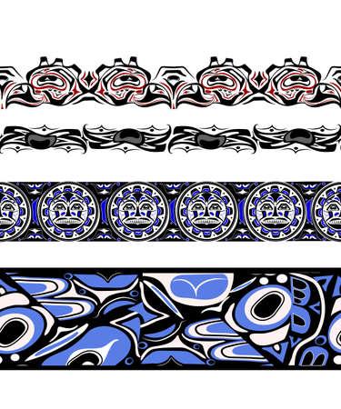 abstract background native north american set Vektoros illusztráció