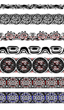 abstract background native north american set Çizim
