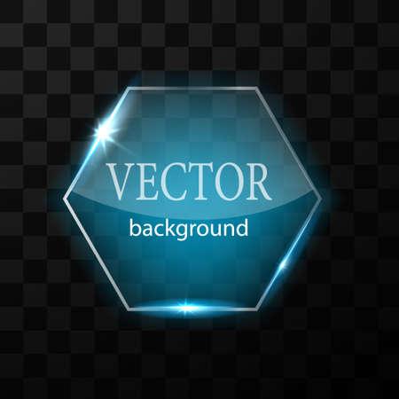 Glass vector button plane. Easy editable background Stock Illustratie