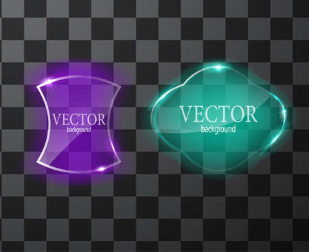 Glass vector button plane. Easy editable background Illustration
