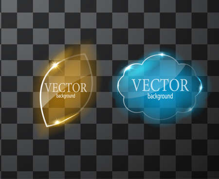 Glass vector button plane. Easy editable background 矢量图像